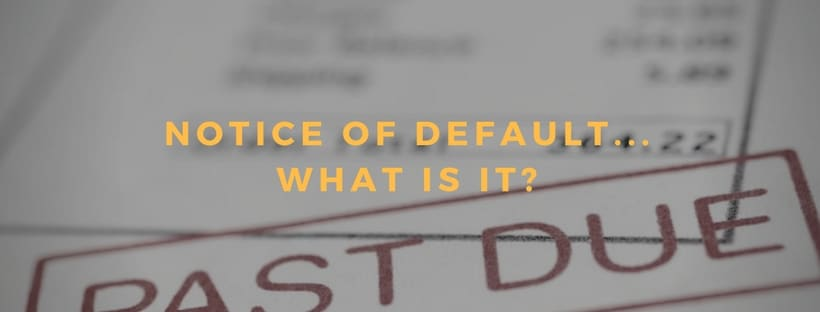 Foreclosure: Notice of Default in Chattanooga – What Is It and What Should You Do?